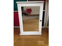 Bathroom cabinet, white with mirror