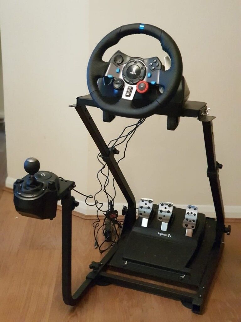 Logitech G29 Wheel and Pedals + Shifter + GT Omega Steering Wheel stand PRO  + Project Cars 2 (PS4) | in High Wycombe, Buckinghamshire | Gumtree