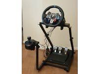Logitech G29 Wheel and Pedals + Shifter + GT Omega Steering Wheel stand PRO + Project Cars 2 (PS4)