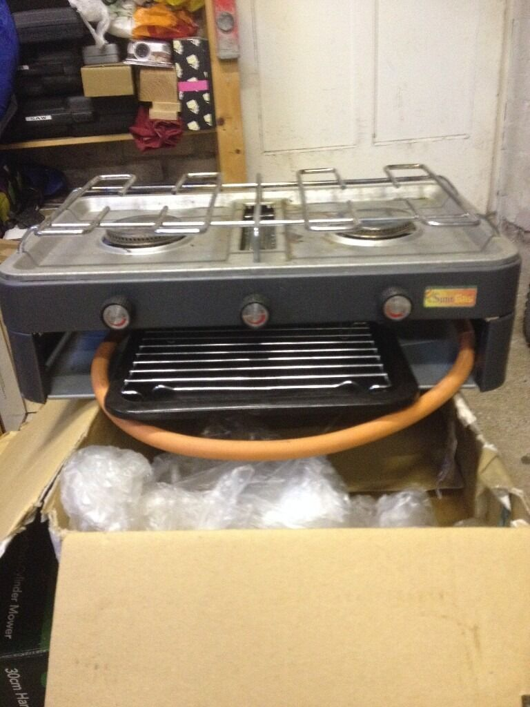 Camping Stove Double ring and grill with pipe line Sunn Gas | in ...