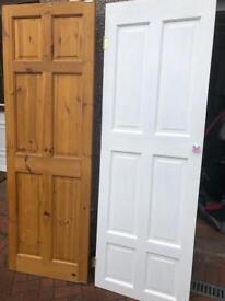 2 x pair wooden doors 198x67cm