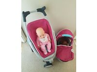 DOLLS quinny buggy and carrycot and dolls included