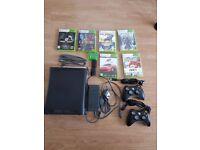 Xbox 360 Elite - 120Gb Hard Drive - Games + Controllers