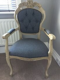 2 French antique carver chairs