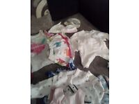 Baby girls clothes.0=3 3=6months.