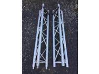 2 x 1.5m Milos Aluminium Truss Lengths with Stand Adapters