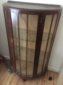"Glass cabinet "" I need the space do it's refucevfrom £60 to £35"""