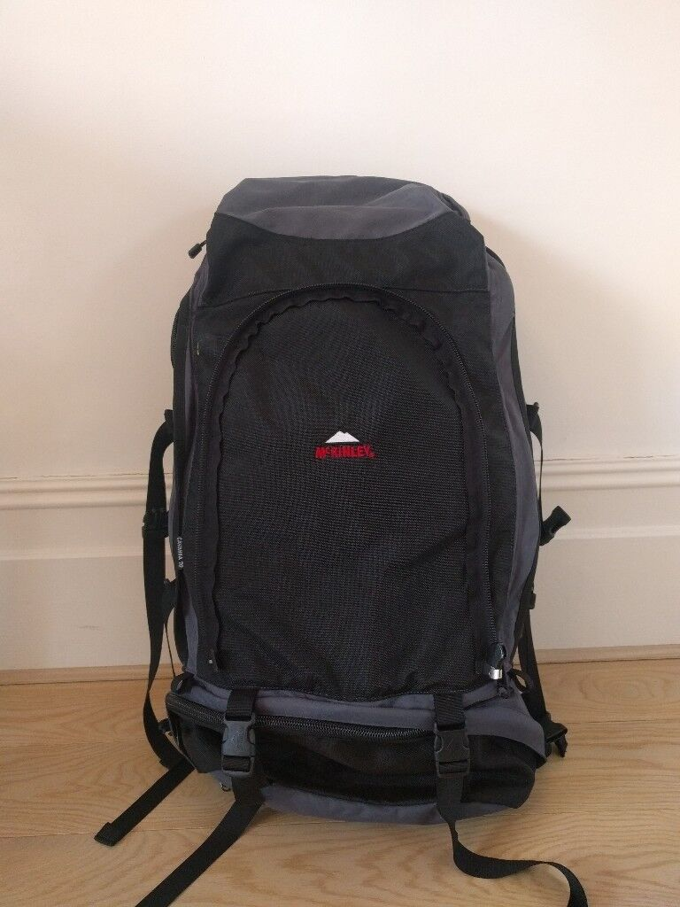 McKinley Cavanna 70 hiking backpack with day back . 60+10L with rain cover 185a5fe82f1dd
