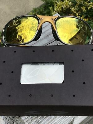 Oakley X Metal XX SUNGLASSES 24K FRAME IRIDIUM LENSES IN BOX ~JULIET & ROMEO~