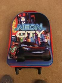 Disney cars travel trolley case
