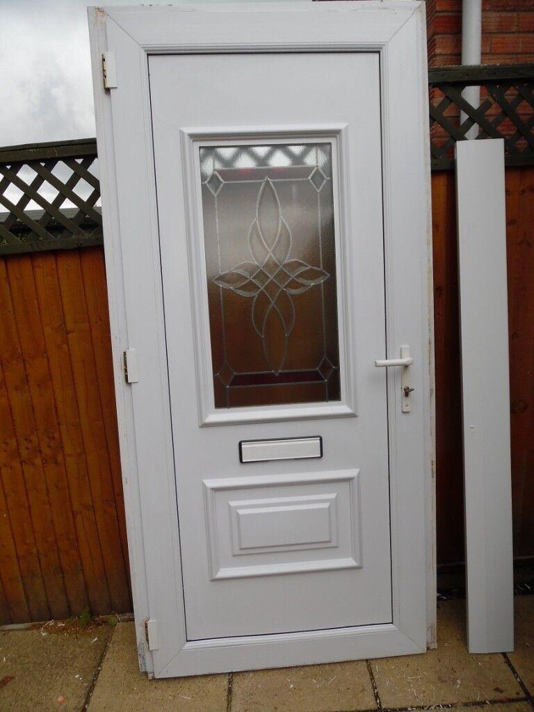 Extra Wide Attractive White Upvc Double Glazed Front Door