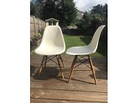 Genuine Vitra Eames DSW side chair in cream