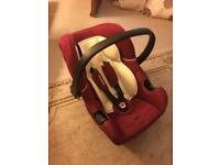 Mothercare Burgundy and Cream Childs/Baby car seat. *All offers considered*