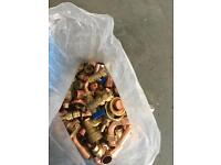 Copper pipe tube and fittings massive bundle