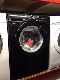 HOOVER 8KG 1400 A++ SPIN BLACK WASHING MACHINE RECONDITIONED