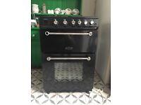 Rangemaster Kitchener 60cm gas oven in black
