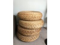 Rattan stool (x5) £10 each or 35 for all