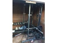 Olympic weight set plus Power Cage