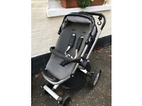 "Quinny ""Buzz"" Buggy Used condition but works well. New front wheels fitted"