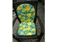 Garden padded seat cushions