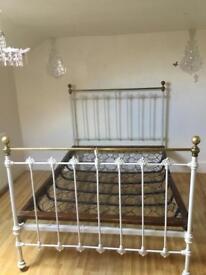 Antique vintage 18th century bed frame