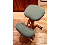 Green, Wooden Kneeling Chair