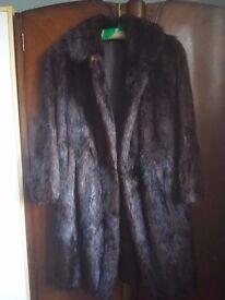 2 real fur coats