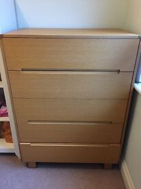 Mamas & Papas Oak Mikado Tall Boy (Chest of Drawers)
