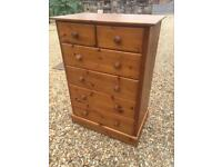 Large solid pine chest of drawers. By M&S
