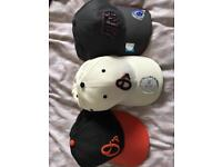 3 Authentic &New Baseball Caps.