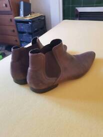 Brown leather boots size 9.5
