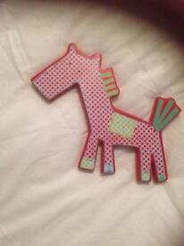 Mamas and papas gingerbread nursery wooden wall plaques