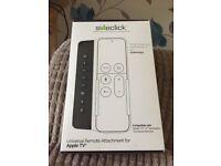 Sideclick universal remote attachment for Apple TV