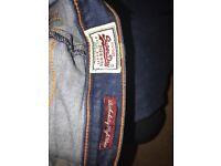 Superdry rockabilly high waist jeans 26 waist 32 leg uk8/10