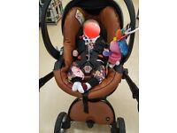 Mima xari Camel limited edition car seat isofix and extras