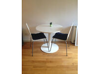Like New, High Quality, White Table & Chairs