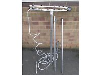 Vision Plus traditional caravan ariel / anntena with ariel to mast bracket and adjustable poles