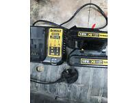 Dewalt charger and two 18v battery's