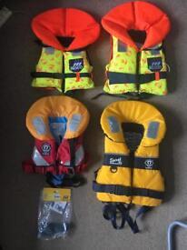 4x Children's Lifejackets (Crewsaver, Besto)