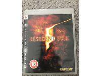 Resident Evil 5- PS3 game