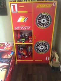 Ferrari kids bed with wardrobe £80