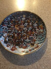 Franklin mint collectibles Santa paws plate