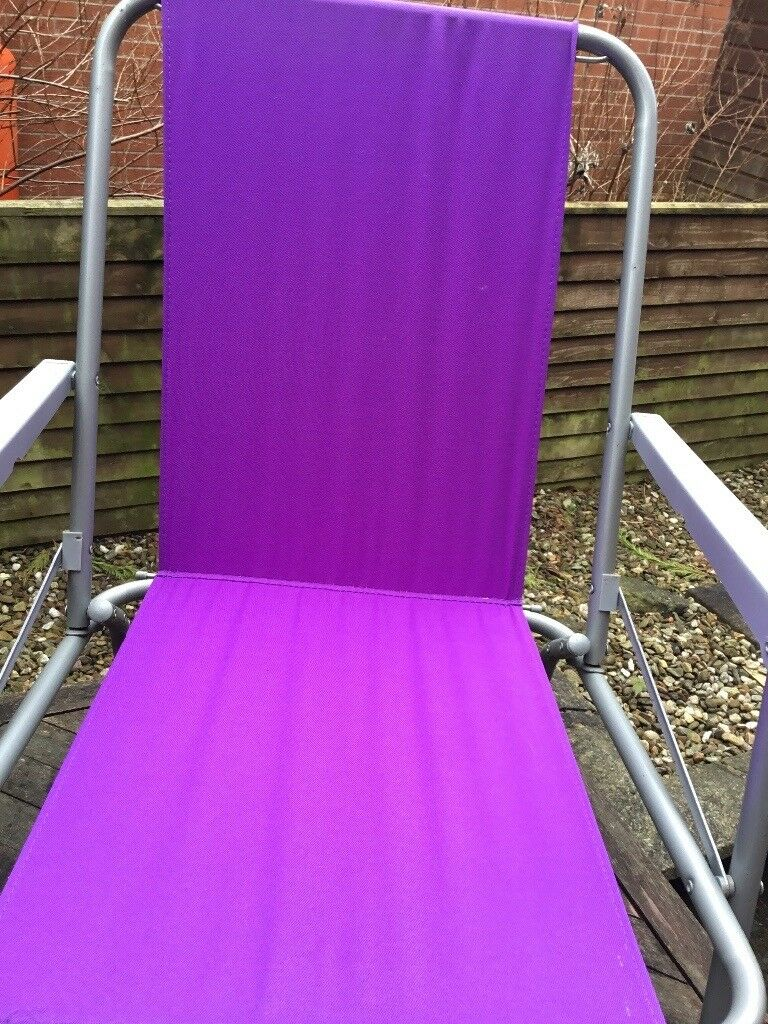 Purple Patio Chair Seat Cushions: Used Have Been Stored In