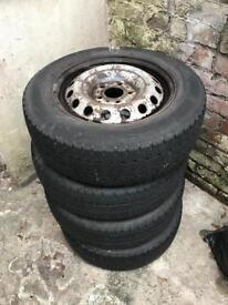 Set of van/car wheels & tires (5x120)