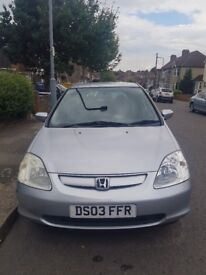 For sale Honda Civic in good condition few scratches,nice driving quick sale.