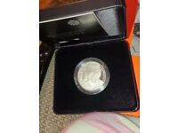 50th Death Anniversary of Winston Churchill 2015 £5 Silver Proof Coin - Free P & P