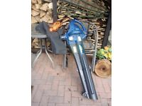 Leaf blower/vacuum, shoulder strap, collection bag very good condition