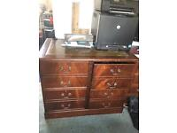 Solid Wood Vintage Antique style filing cabinet large