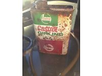 old castrol tin