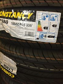 Pair of Brand New Tyres 185/55R16